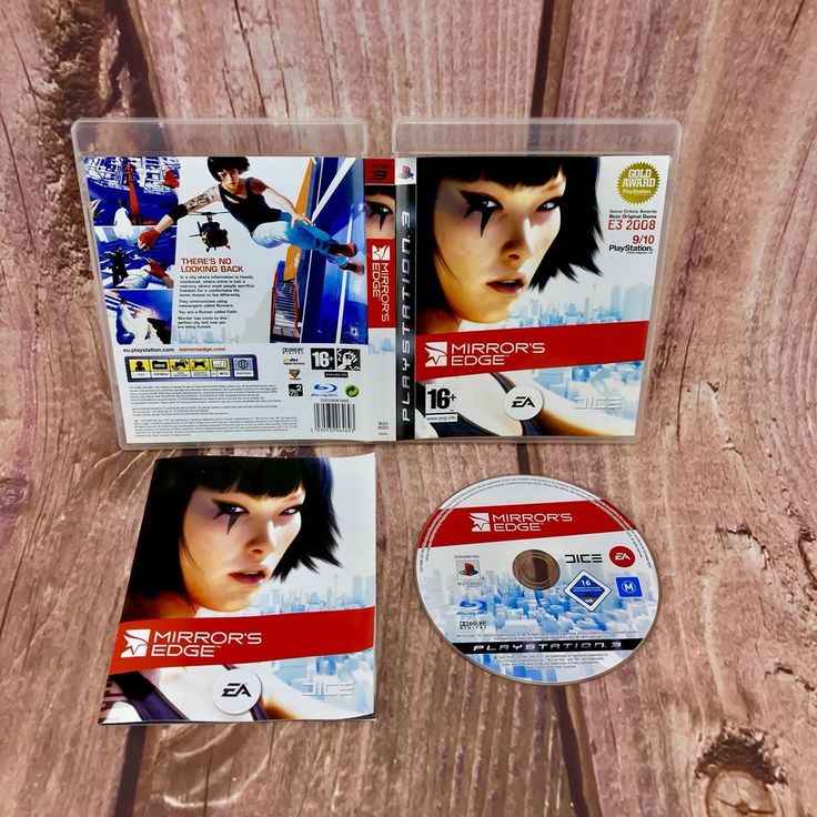 Playstation 3 PS3 Mirrors Edge video Game action adventure pal 16+ with manual