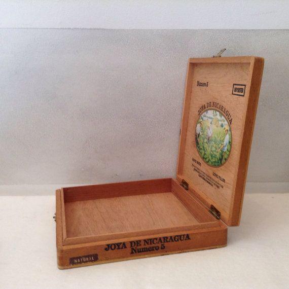 Collectible Joya de Nicaragua Tabaco Box  by GreenVintageHeart