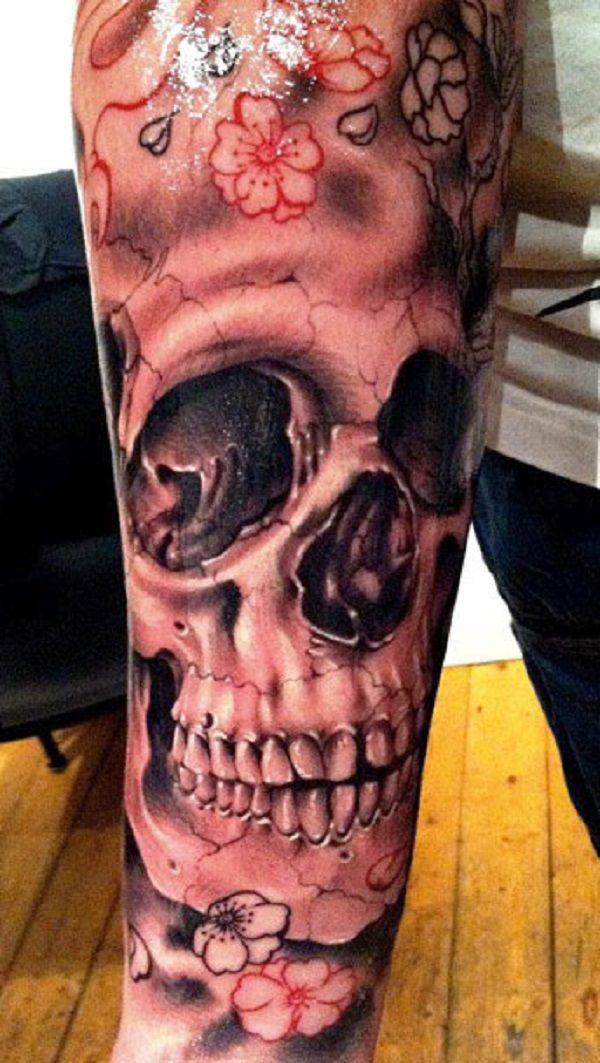 Skull Tattoos 19 - 80 Frightening and Meaningful Skull Tattoos   <3