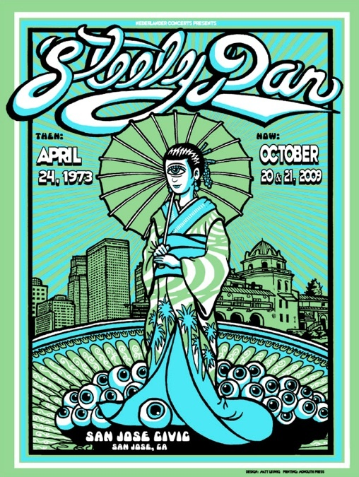 Steely Dan Concert poster Music that inspires me