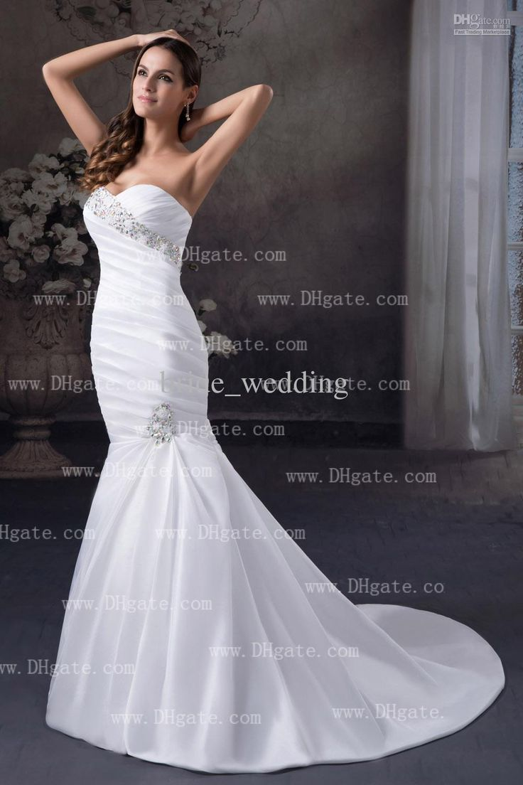 12 best wedding dresses images on pinterest wedding dressses white mermaid wedding dresses sweetheart swarovski crystals beaded accented ruched bodice taffeta ombrellifo Gallery