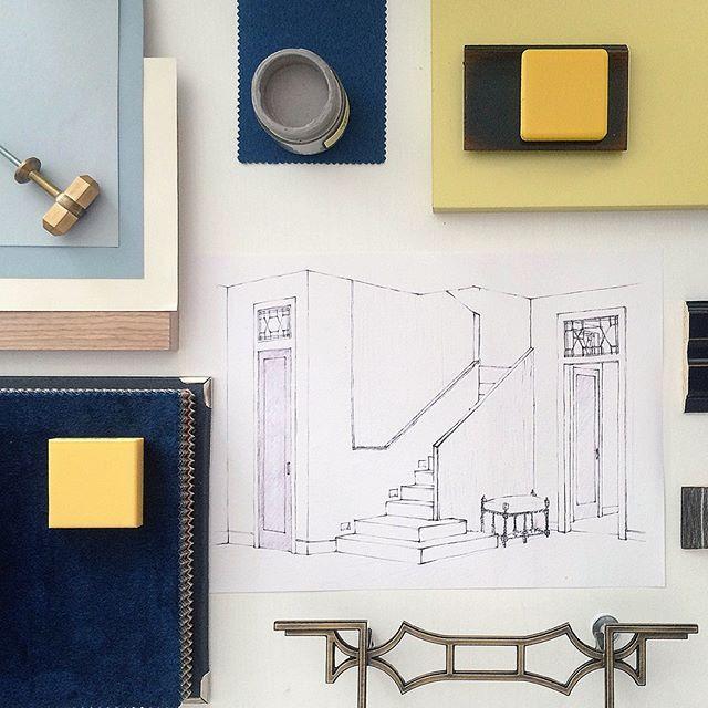"""""""Собираем"""" новый проект двухэтажной квартирыИдеальный ансамбль цвета, фактур и геометрии #sketch #дизайнинтерьра #enjoy_home"""