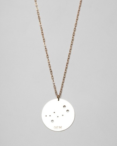 Julie Nolan, Brass Constellation Necklaces (Gemini)