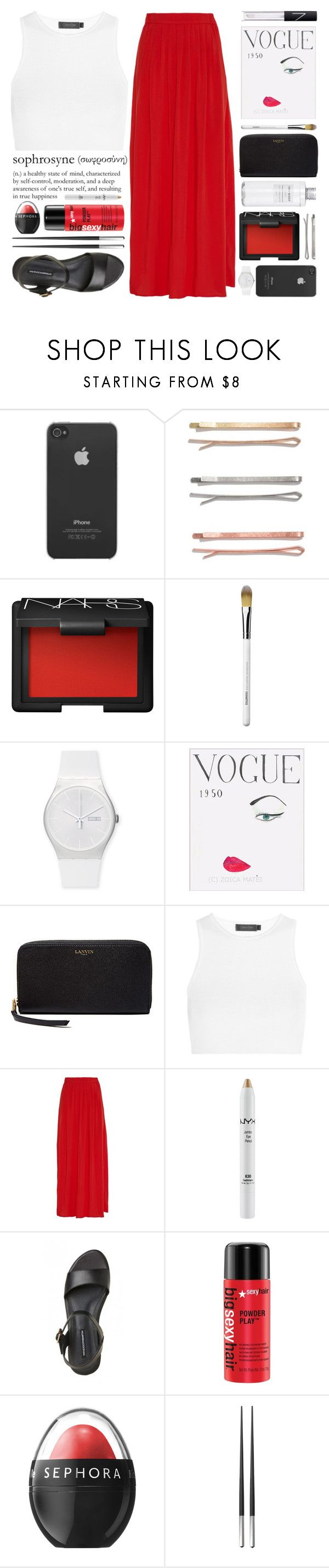 """""""NOBLE."""" by youadorejanee ❤ liked on Polyvore featuring Incase, Madewell, Muji, NARS Cosmetics, Obsessive Compulsive Cosmetics, Swatch, WALL, Lanvin, Calvin Klein Collection and NYX"""