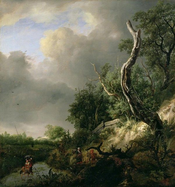 "Jacob van Ruisdael ""The Dunes Near Haarlem"", 1650 (The Netherlands, Baroque / Dutch Golden Age, 17th cent.)"