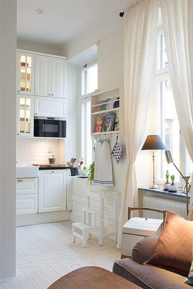 16 best decorar pisos peque os images on pinterest for Cocinas pisos pequenos