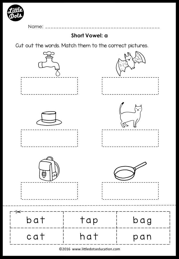 Short Vowels Middle Sounds Worksheets And Activities Middle Sounds Worksheet Short Vowel Worksheets Middle Sounds Short sound words worksheets