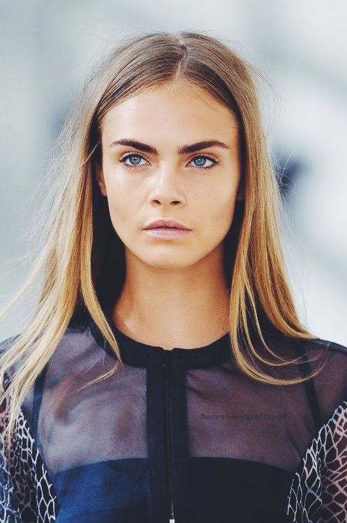 Fresh faced beauty // Cara Delevingne