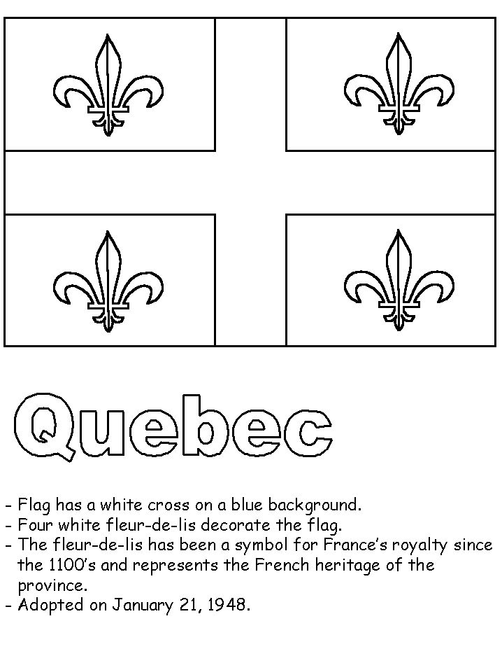 canadian flag coloring pages - photo#34