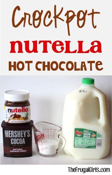Crockpot Nutella Hot Chocolate Recipe