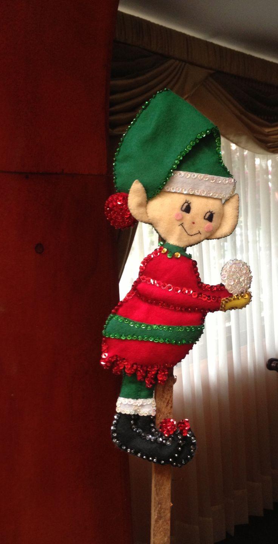 Christmas elf / Duende de Navidad en fieltro!