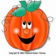 """pumpkin clip art-use for """"Five Little Pumpkin"""" puppets"""