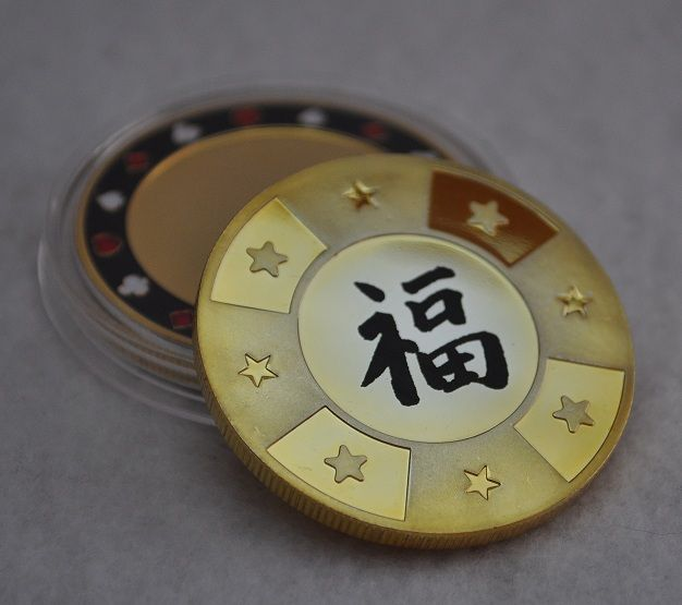 Make this poker chip card guard your own! Laser engraved with your design!
