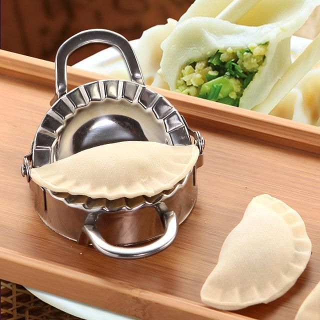 Kitchen Stainless Steel Dumpling Maker Wrapper Dough Cutter Pie Ravioli Mould US