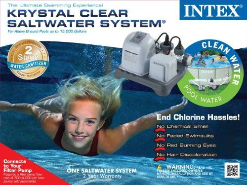 Intex Easy Set Saltwater System Pool Chlorinator ....... We won't have.to deal with gross chlorine smell