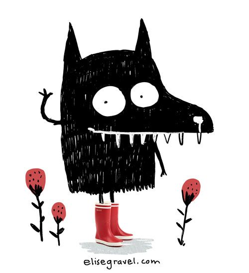 Elise Gravel • Monster with red rainboots