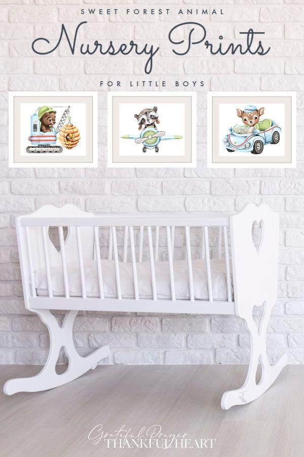 Jun 21, 2020 – Set of 3 (plus BONUS) modern wall art nursery prints of cuddly forest animals. Decorate a baby boy's room…