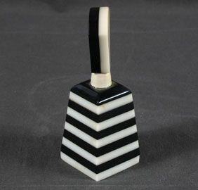 Lucite black & white perfume bottle....gorgeous!
