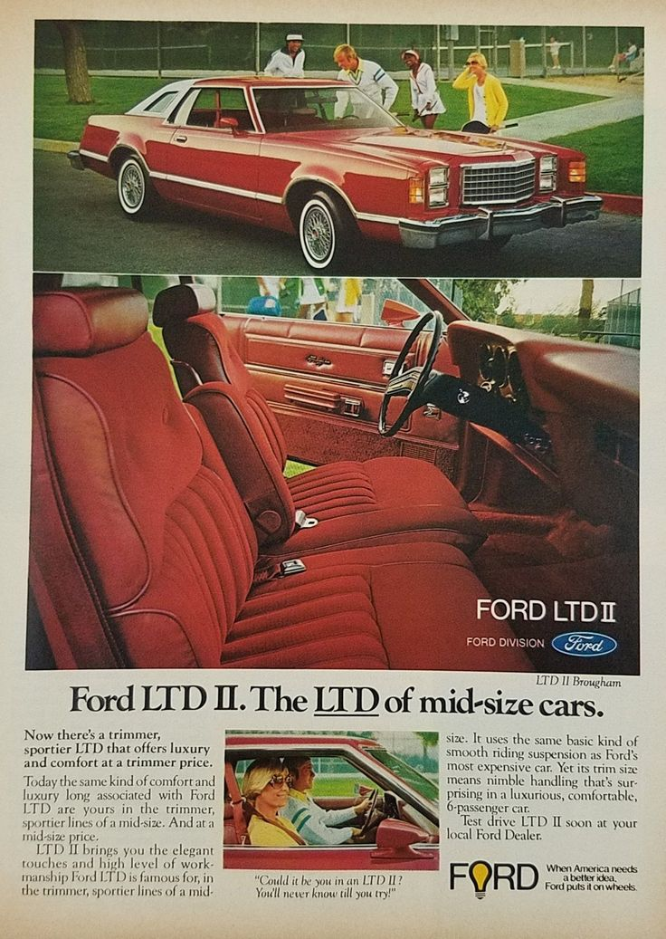 1977 Ford LTD Brougham Vintage Ad - Tennis Players Courts