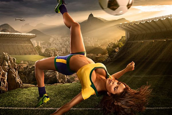 "Brazil 2014 ""World Cup Inspired"" Soccer Calendar on Behance"