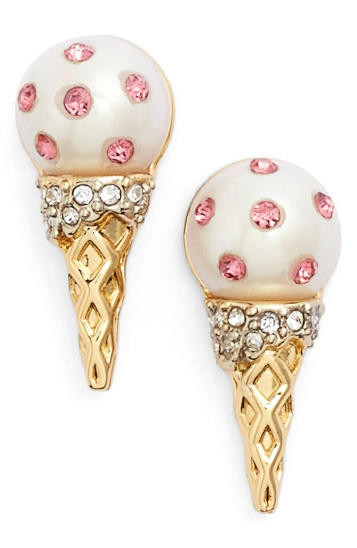 These icy cool earrings from Kate Spade can add a touch of whimsy to any outfit. So cute!