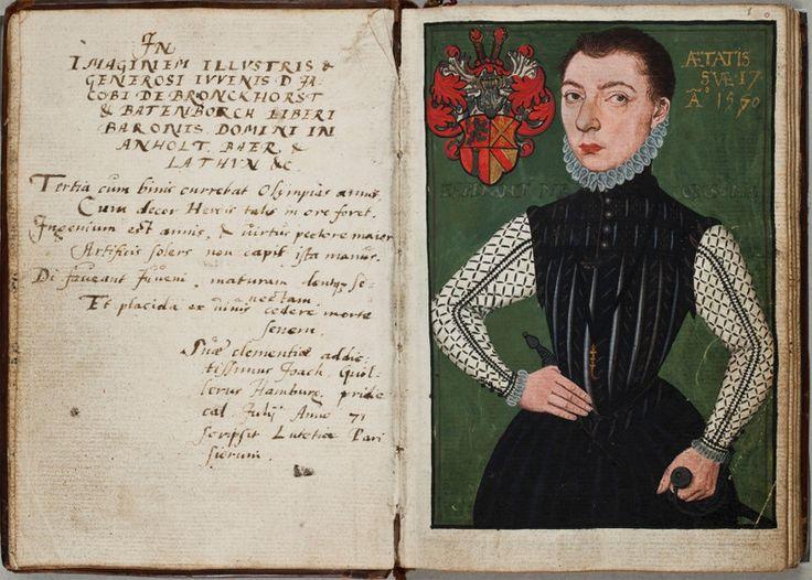 Profil mladého Nizozemce ze 16. století