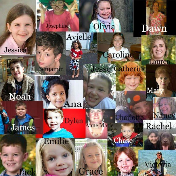Angels of Sandy Hook Elementary 12/14/12. The world lost some of it's brightest lights. This is sadness :(