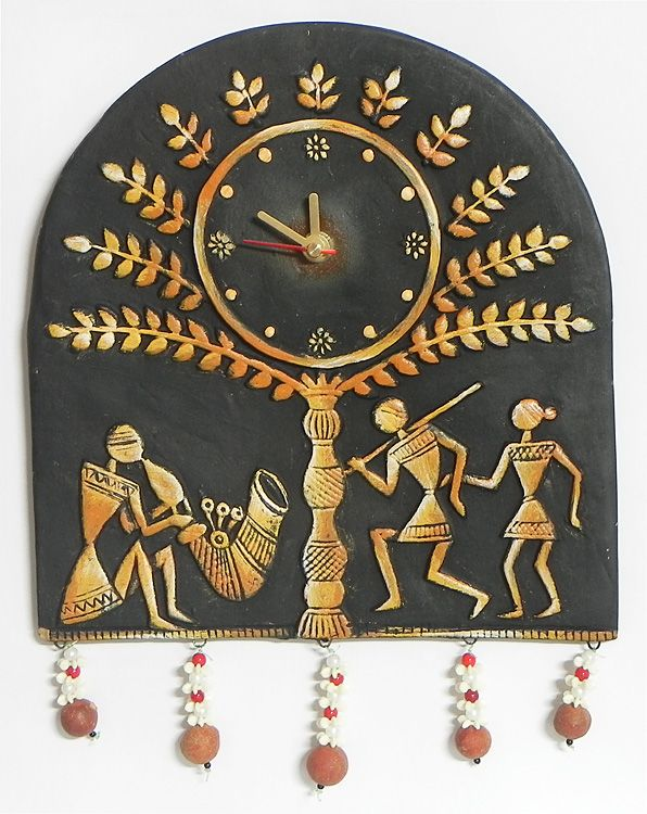 206 best images about indian traditional art on pinterest for Traditional wall clocks india
