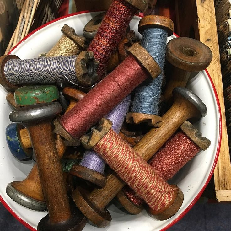 Delicious vintage bobbins we also have lovely vintage ribbons lace buttons antique lace bobbins all at the show see you there! #luccellomelbourne #sydneycraftandquiltshow2017 #boothh02 #vintagehaberdashery