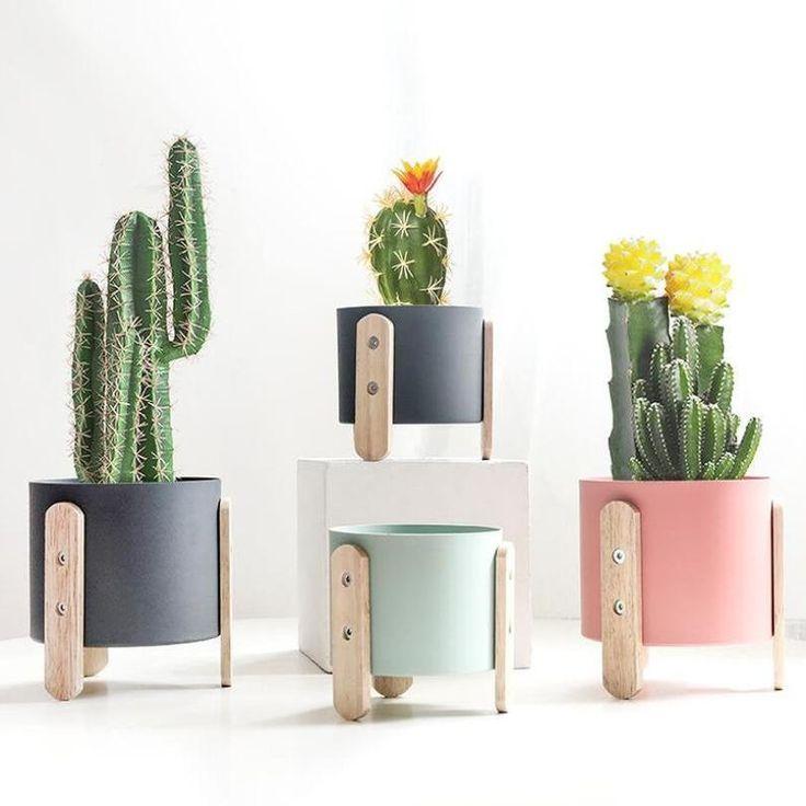 Ceramic Plant Pots, Ceramic Flower Pots, Planting Succulents, Potted Plants, Air Plant Terrarium, Unique Plants, Plant Decor, Garden Pots, Box Garden