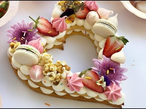 Decorative Heart Shaped Valentine's Day Cake - YouTube