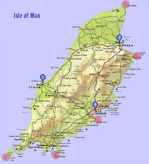Isle of Man, used to go as a child, would be good to go back and visit dads plaque around the TT racecourse