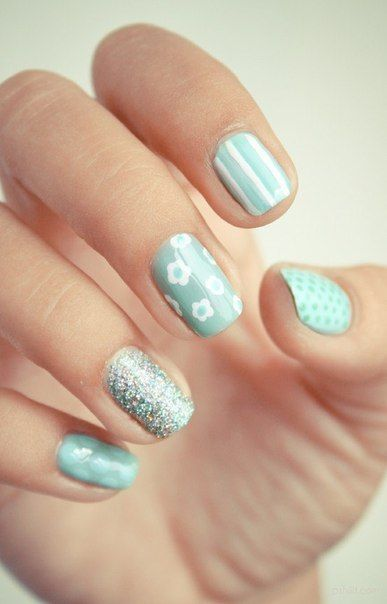 A green day calls for a mint mani.