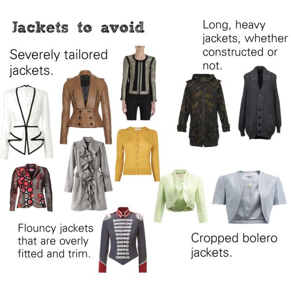 """""""Soft Natural (SN) - Jackets to avoid"""" by lightspring on Polyvore"""