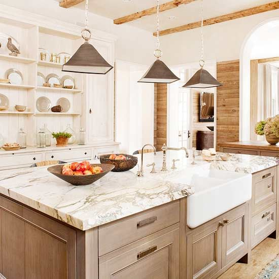 I really like the natural colors and light marble counter!