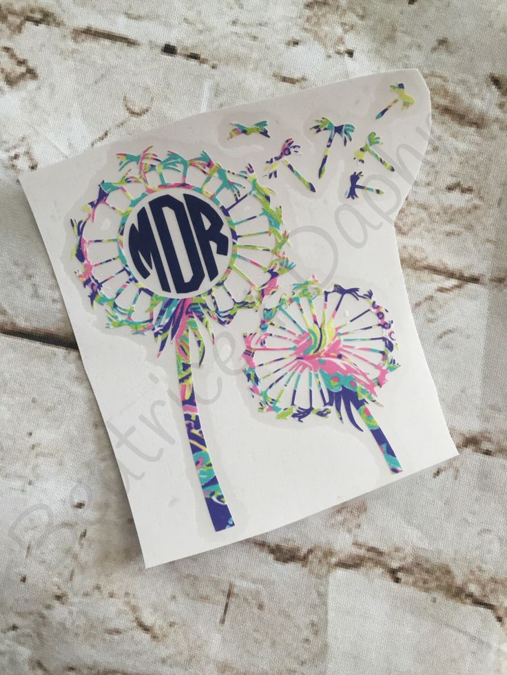 A personal favorite from my Etsy shop https://www.etsy.com/listing/468530813/dandelions-yeti-monogram-decal-flower