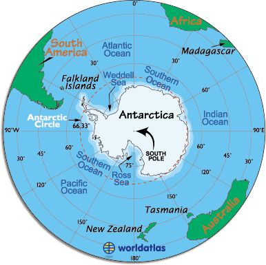 Antarctica: Highest Point: Vinson Massif at 16,066 ft. (4,897 m) Lowest Point: Bentley Subglacial Trench, -2,555 m) Latitude/Longitude: 90° S, 0.00° E Official Language: none Official Currency: none Population: Officially none, but governmental research stations are populated with small groups of scientists at all times. In addition, during the 2011/2012 season, nearly 417,000 tourists visited the continent.