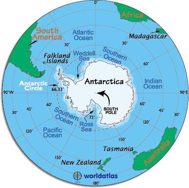Antarctica Map / Map of Antarctica - Facts about Antarctica and the Antarctic Circle - Worldatlas.com