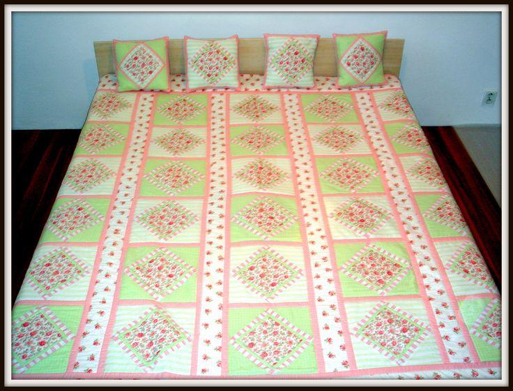 Patchworková deka - ušitá jako svatební dar pro novomanžele