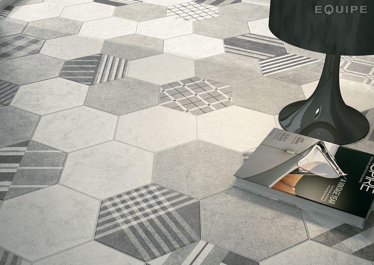 Hexatile Cement White, Grey, Decor GEO Grey 17,5x20. #industrial, #moderno, #decor, #architecture, #shape, #form, #hexagon, #hexatile, tile, #wall floor tile, #porcelain tile, #bathroom, #kitchen, #dinning room, #saloon, #modern, #traditional, #patchwork, #design, #ceramic, #flooring, #mediterranean, #classic, #style, #contemporary, #indoor, #outdoor, #wall floor tiles, #equipe, #equipe cerámicas, #covering