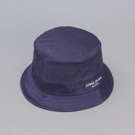 Stone Island Marina Bucket Hat in Inchiostro