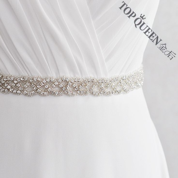 TOPQUEEN S216 Crystal Rhinestones Evening Party Prom Dresses Accessories Wedding Belt Sashes,Bride Waistband Bridal Sashes Belts