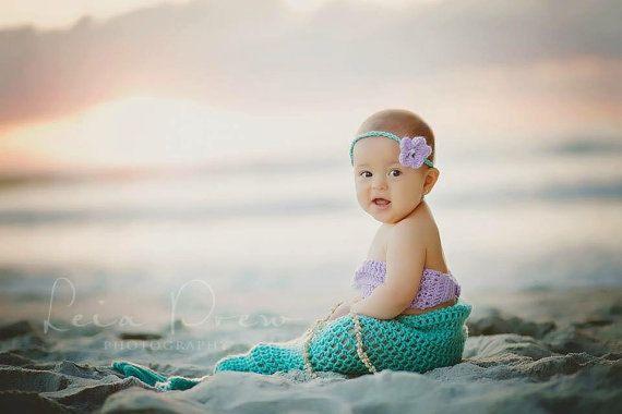 Mermaid Photo Prop Newborn Photo Prop 0 12 Month Mermaid