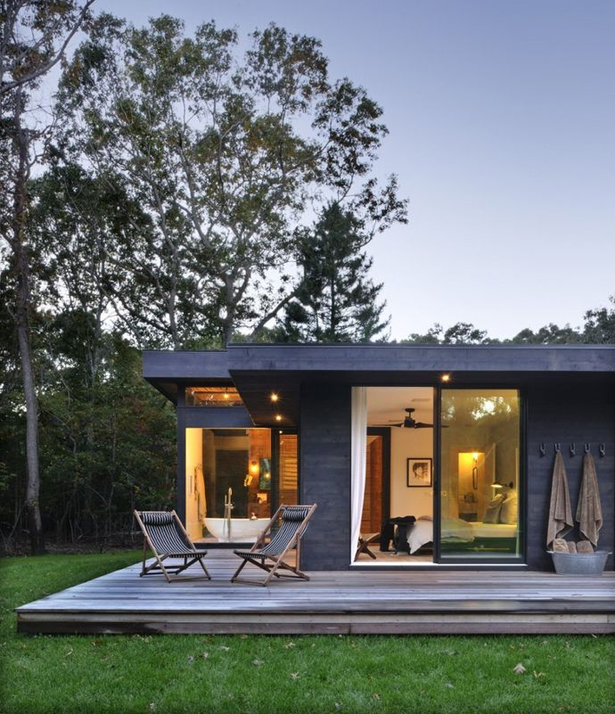 The clients, an interior designer and a DJ, requested a complete renovation and addition of a 1960's kit house in Amagansett, NY to be a weekend retreat from their urban apartment. The clients gathered images of objects and conventional...
