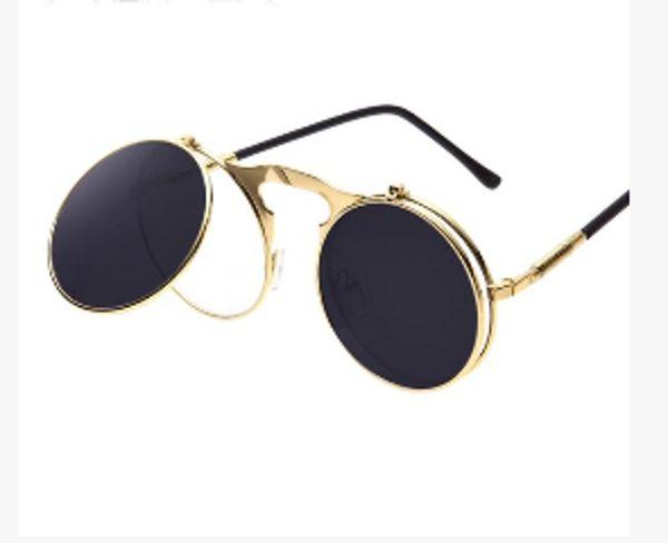 Mode Trend Sonnenbrille Sonnenuntergang Sonnenbrille , Blau / Silber