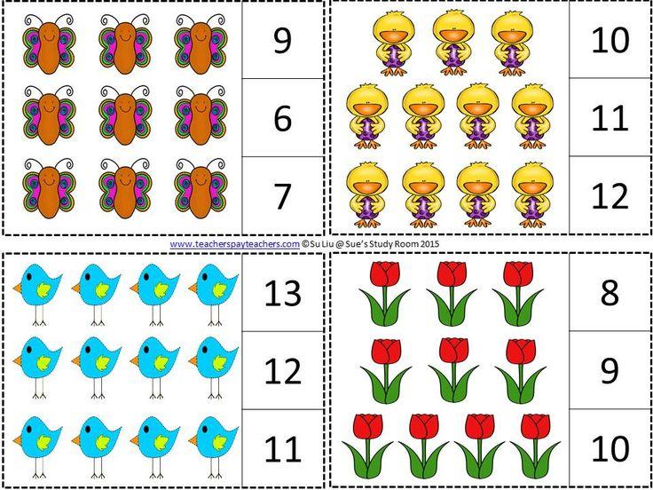 spring count and clip cards                                                                                                                                                                                 Más