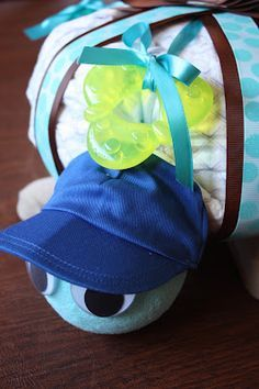 Turtle diaper cake instructions