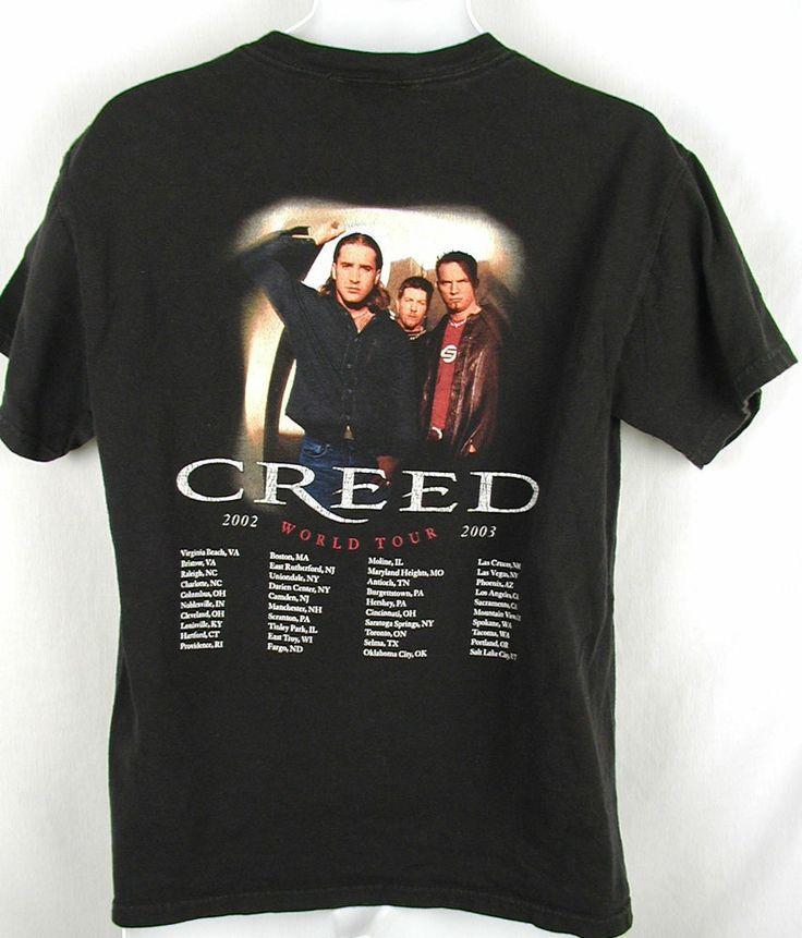 creed t shirt 2002 2003 weathered world tour black size m medium black ebay pinterest. Black Bedroom Furniture Sets. Home Design Ideas