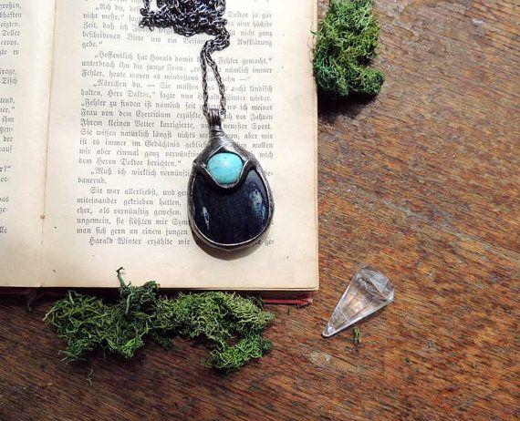pendant necklace dumorietyt stone necklace delicate by MARIAELA, $42.00