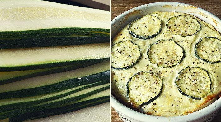 Low Carb Rezept für eine Low-Carb Zucchini-Lasagne. Wenig Kohlenhydrate und einfach zum Nachkochen. Super für Diät/zum Abnehmen.